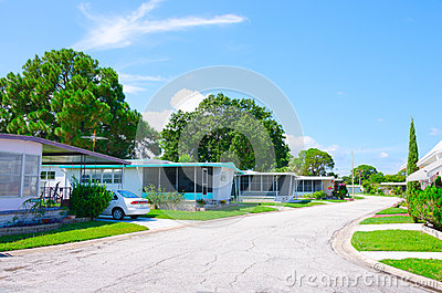 Well Kept Mobile Home Trailer Park in Florida