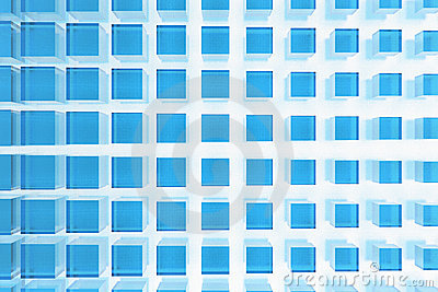 Blue glass squares