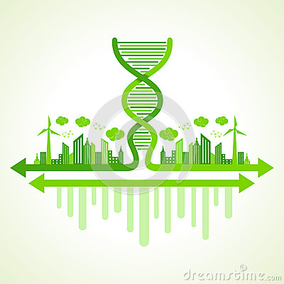 Ecology concept with DNA strand