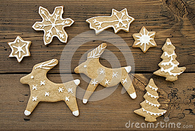 Ginger Bread Reindeers, Stars, Snowflakes and Trees