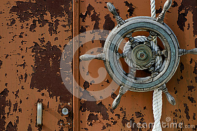 Old boat wheel