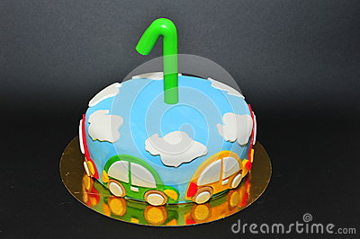 One year old birhtday celebration cake