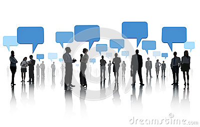 Group of Business People with Social Networking