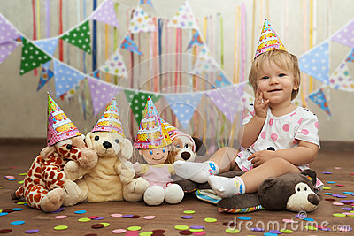 First birthday toy party with plush friends