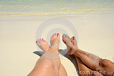 Toes in the Sand in San Pedro, Belize