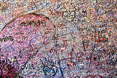 Wall full of messages in Juliet's House