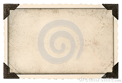 Old photo frame with corner and empty field for your picture
