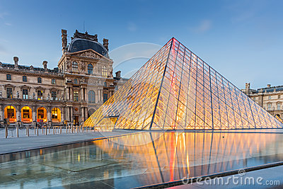Louvre Museum in Paris, France.