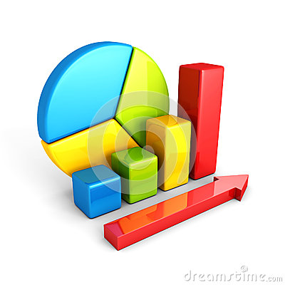 Statistics analysis business colorful shiny bar graph