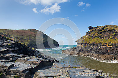 Cornwall coast Boscastle Cornwall England UK beautiful autumn day