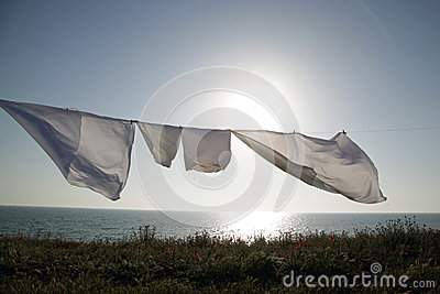 Linens dries in the fresh air