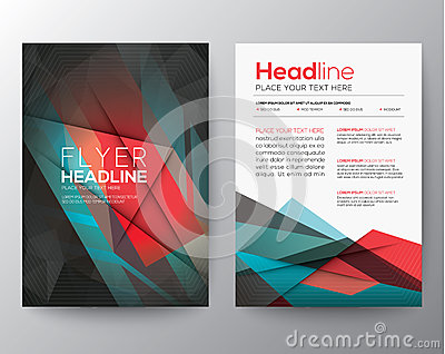 Abstract Triangle Geometric Brochure Flyer design Layout template