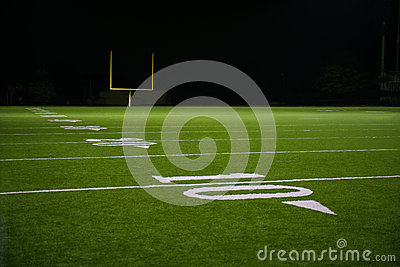 Yard Numbers and Line on American Football Field
