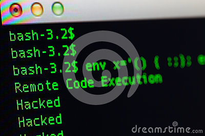 Hacked server via shellshock exploit