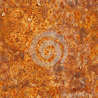 Seamless texture of rusty metal surface. Grunge photographic pat