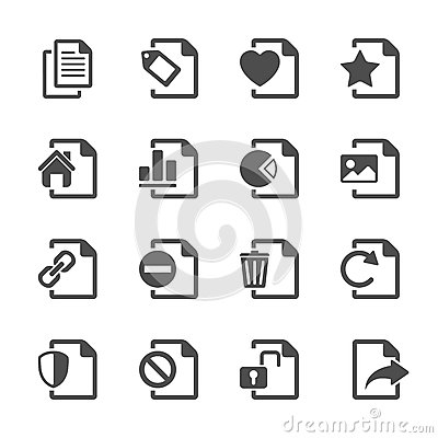 File document icon set 2, vector eps10.