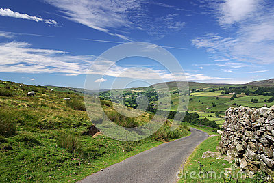 A road in the Yorkshire Dales