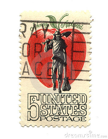 Old postage stamp from USA five cents