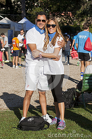 Hunger Run (Rome) - WFP - A couple posing