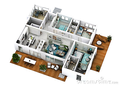 3d floor plan for Cost to build a 1500 sq ft home