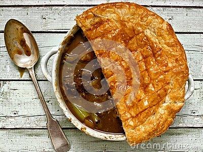 Rustic beef steak potpie