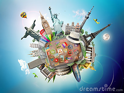 stock image of travel, world
