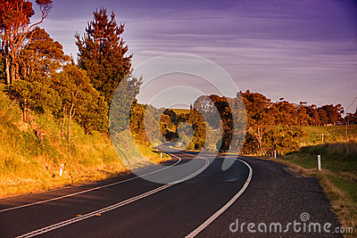 Rural road in Australia