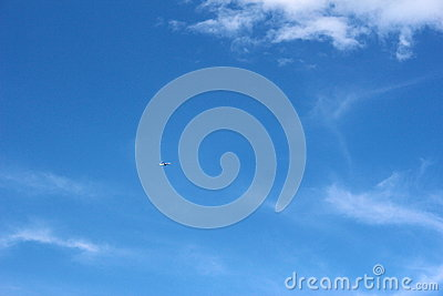 Plane on clear blue sky