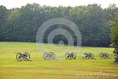Cannons on battlefield of Shiloh