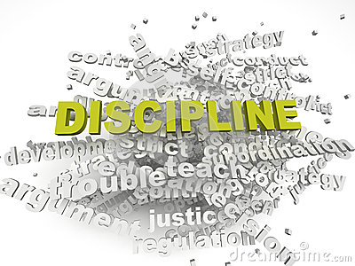 3d imagen Discipline issues concept word cloud background