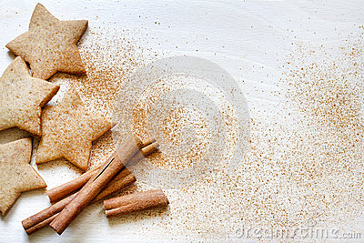 Christmas baking gingerbread cookies food background
