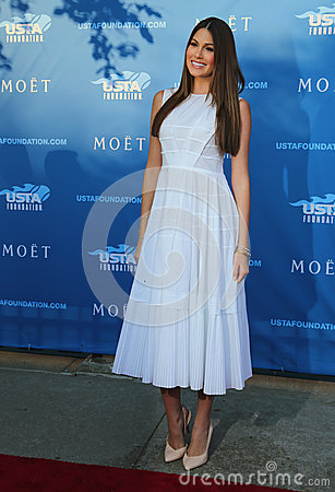 Miss Universe 2014 Gabriela Isler from Venezuela at the red carpet before US Open 2014 opening night ceremony