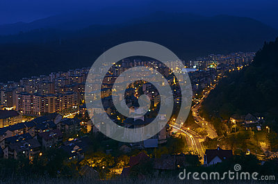 Brasov night view