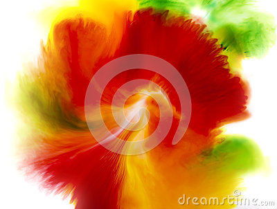 Colorful abstract background of flower concept, red green and yellow