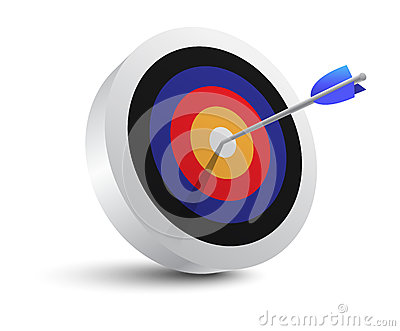 Target aim and arrow icon