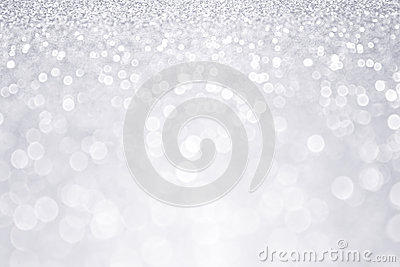 Silver Glitter Winter Christmas Background