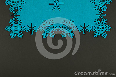 Unusual design christmas background with blue snowflakes