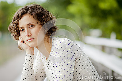 Worried Woman Lost In Thought