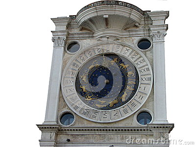 Ancient Venetian clock in San Marco