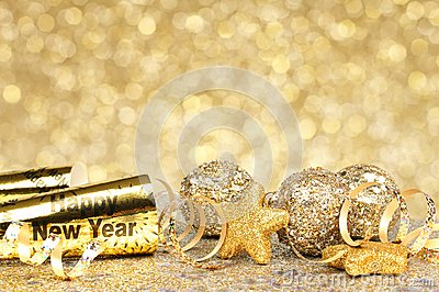New Years Eve golden party background