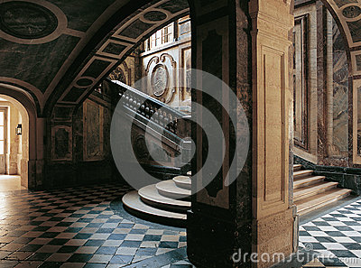 Stairs of the Queen Versailles Palace France