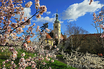 Prague Church in Springtime