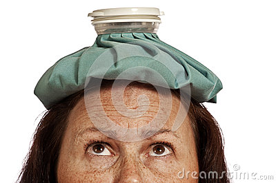 Woman Looking Up At Ice Pack