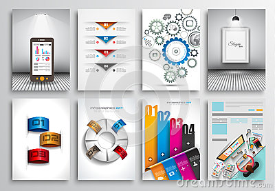 Set of Flyer Design, Web Templates. Brochure Designs, Infographics Backgrounds