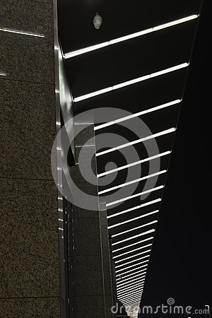 Led curtain wall,night lighting of modern commercial building