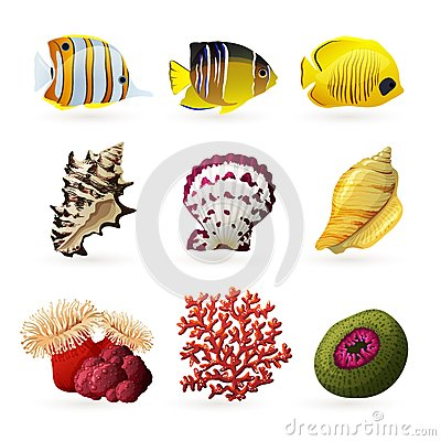 Sea Fauna Icons