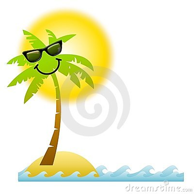 Palm Tree Beach Cartoon Cartoon Palm Tree Sunglasses
