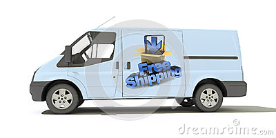 Delivery van, free shipping