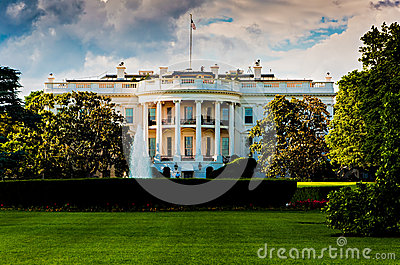 The White House on a beautiful summer day, Washington, DC.