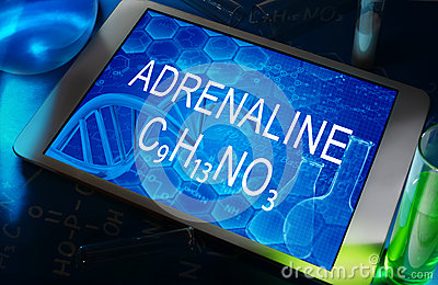 The chemical formula of adrenaline